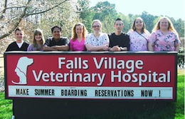 Falls Village Veterinary Hospital pet friendly dog boarding and animal hospital in Raleigh North Carolina
